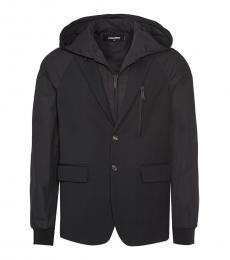 Dsquared2 Black Solid Coat Jacket