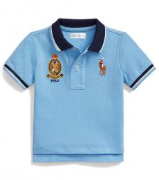 Ralph Lauren Baby Boys Blue Lagoon Big Pony Polo