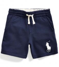Little Boys Newport Navy Big Pony Shorts
