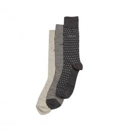 Grey 3-Pack Printed Sock Gift Tin