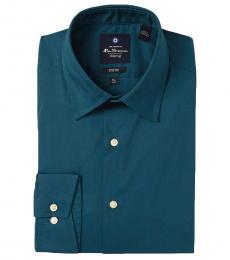 Ben Sherman Teal Tailored Stretch Fit Dress Shirt