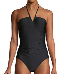 Calvin Klein Black V-Wire One-Piece Swimsuit
