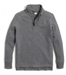 J.Crew Little Boys Heather Carbon Half Zip Sweatshirt