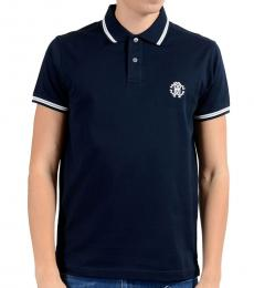 Roberto Cavalli Dark Blue Short Sleeve Polo