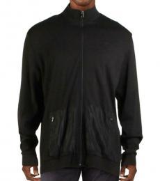 Calvin Klein Black Mock Neck Full Zip Jacket