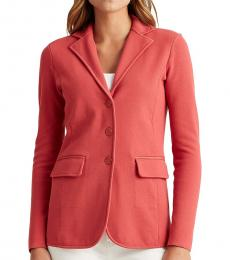 Moroccan Pink Sweater-Knit Blazer