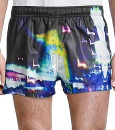 Hugo Boss Black Printed Swim Trunks