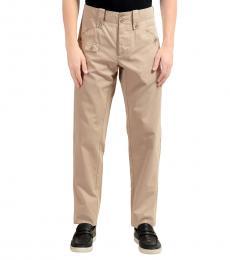 Beige Casual Pants