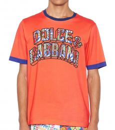 Orange Logo Carretto T-Shirt
