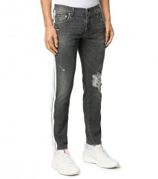 Dark Grey Distressed Skinny Jeans