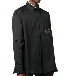 Balenciaga Black Logo Cotton Shirt