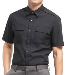 Black Tech Poplin Shirt
