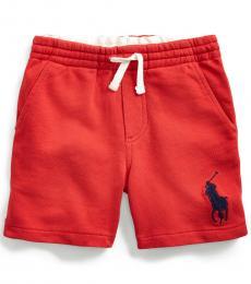 Ralph Lauren Little Boys Evening Post Red Big Pony Shorts
