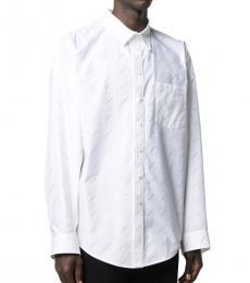 Balenciaga White Logo Cotton Shirt
