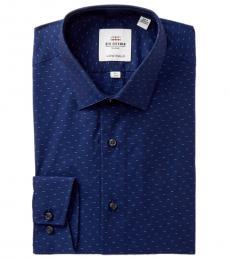 Ben Sherman Navy Blue Soho Skinny Fit Dress Shirt