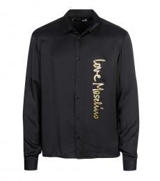 Love Moschino Black Gold Logo Shirt