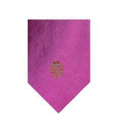 Ralph Lauren Pink Solid Logo Tie