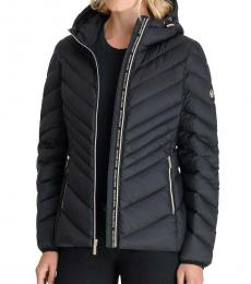 Michael Kors Black Hooded Packabl Puffer Jacket