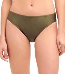 DKNY Green Classic Scoop Bikini Bottom