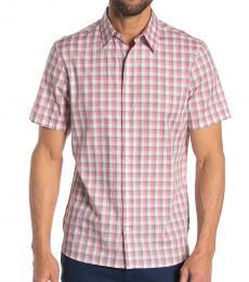 Tea Rose Checkered Placket Shirt