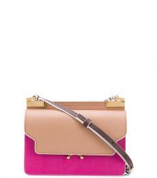 Pink/Beige Trunk Small Crossbody