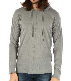 Grey Gold Hooded Kohoddy Sweater