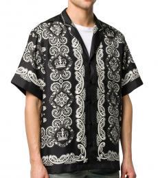 Dolce & Gabbana Black Bandana Print Shirt