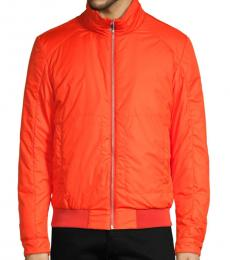 Coral Down Bomber Jacket
