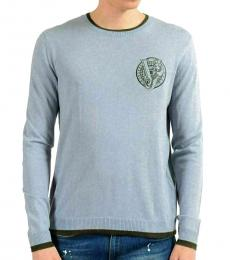 Light Blue Logo Crewneck Sweater
