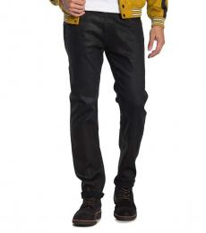 True Religion Black Rocco Relaxed Skinny Jeans