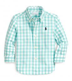 Ralph Lauren Baby Boys Mint Gingham Shirt