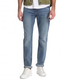 Blue Adrien Straight Jeans