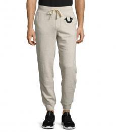 True Religion Oatmeal Drawstring Jogger Pants