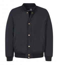 Love Moschino Black Back Logo Buttoned Jacket