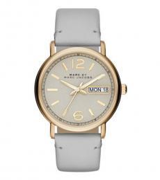 Marc Jacobs Grey-Gold Fergus Watch