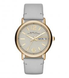 Marc Jacobs Grey-Gold Fergus Watch