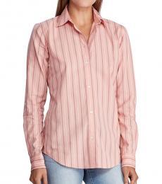 Ralph Lauren Pink Striped Cotton Shirt