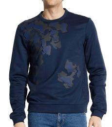 Calvin Klein Dark Blue Camo Printed Sweatshirt