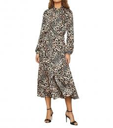 Leopard Print Printed Maxi Shirtdress