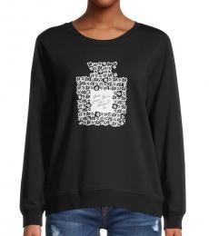 Karl Lagerfeld Black Perfume Graphic Cotton-Blend Sweatshirt