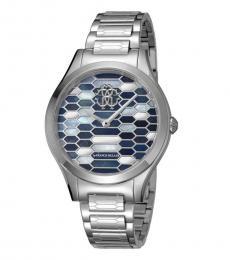 Roberto Cavalli Silver Exceptional Time Piece