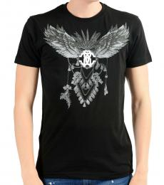 Roberto Cavalli Black Graphic Print T-Shirt