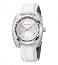 Calvin Klein White Achieve Modish Watch