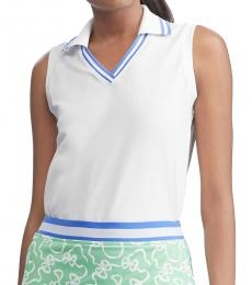 Ralph Lauren White Sleeveless Cricket Golf Polo