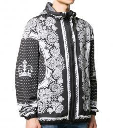 Dolce & Gabbana Black Signature Bandana Print Jacket