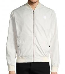 Versace Collection White Logo Bomber Jacket