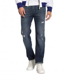 True Religion Dark Blue Geno Relaxed Slim Fit Jeans