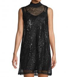 BCBGMaxazria Black Embellished Mini Dress