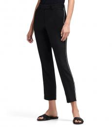 Black Cropped Piping Pant