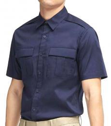 Navy Tech Poplin Shirt